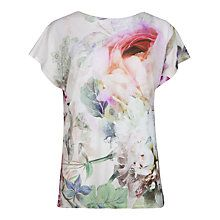 Buy Ted Baker Pure Peony T-shirt, Dusky Pink Online at johnlewis.com