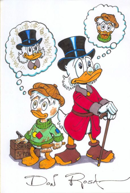 Young and Old Scrooge by Don Rosa      ........................................................ Please save this pin... ........................................................... Visit Now!  OwnItLand.com