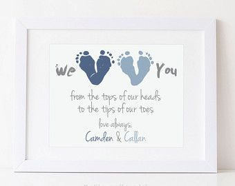 Personalized Father's Day Gift for New Dad I by PitterPatterPrint