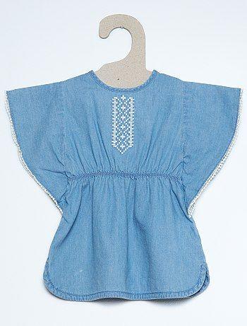 Denim jurk met een broekje                                                                     denim Meisjes babykleding