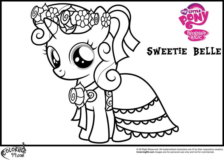216 best My Little Pony Coloring Pages images on Pinterest
