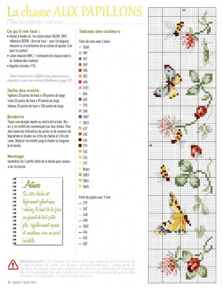Butterflies Bees Border Creation Point de Croix - 11 - Jul./Aug. 2011