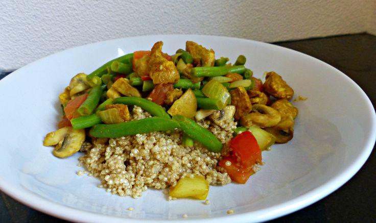 Quinoa met Kerriekip