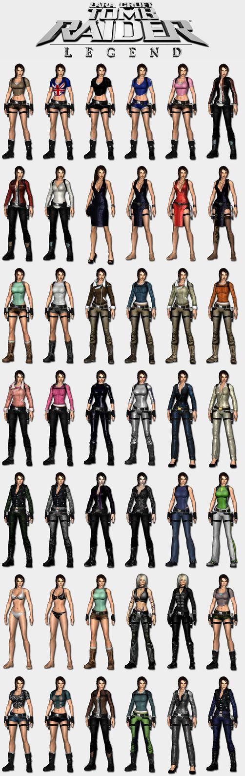Tomb Raider Legend - Lara's outfits by HailSatana on DeviantArt