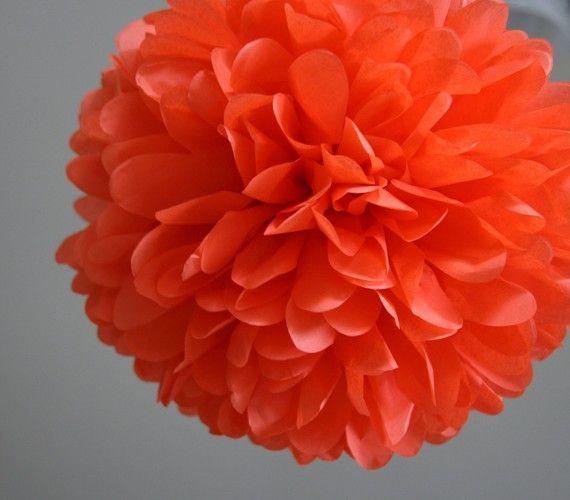 Poppy  one pom by PartyPoms on Etsy, $1.75