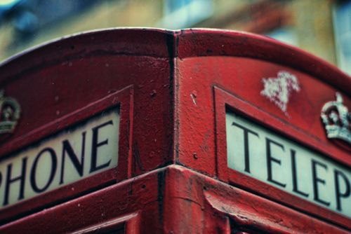 The red telephone box, London