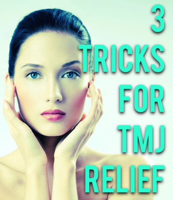 Three tricks for TMJ pain relief at home! #SPAugust
