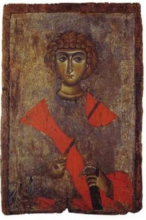 St George. 12th c. From Constantinople. Veria Byzantine museum, Veria, Greece.