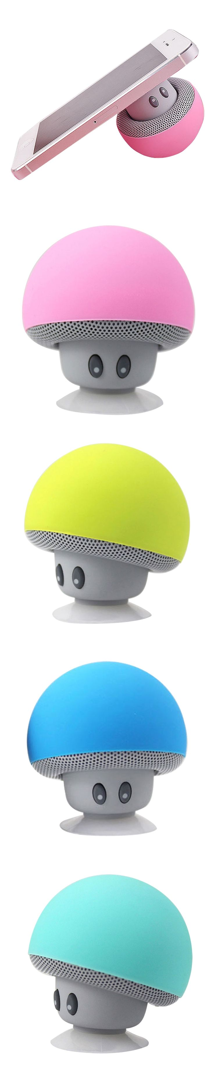 Wireless Mini Bluetooth Speaker Portable Mushroom Waterproof Stereo Bluetooth4.1 Speaker for Mobile Phone iPhone Xiaomi Computer