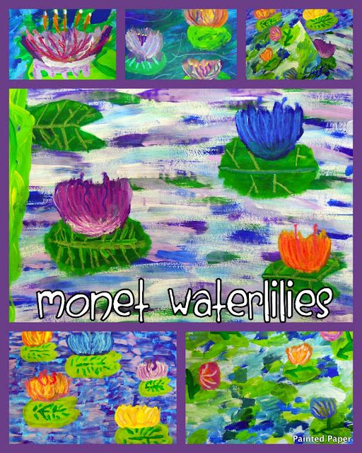 """Monet's """"Waterlilies"""". Step-by-step instructions. Example five   might be able to finish my first quilt piece with this"""