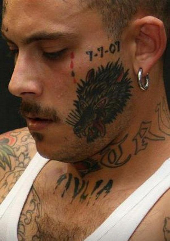20 Dark and Real Prison Tattoo Designs Face tattoos
