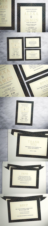wedding card backgrounds vectors%0A Art Deco Wedding Suite  Wedding Card Templates