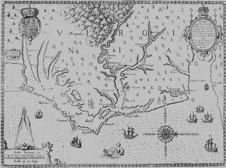 The Lost Colony of Roanoke sponsored by Sir Walter Raleigh