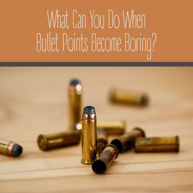 What Can You Do When Bullet Points Become Boring?  | Varró Joanna Design…