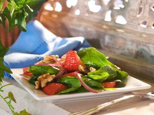 Spinach Salad Recipes: Spinach Salad, Strawberries Salad, Side Salad, Salad Recipes, Spinach Walnut, Salad Ideas, Walnut Recipes, Strawberries Spinach, Healthy Food