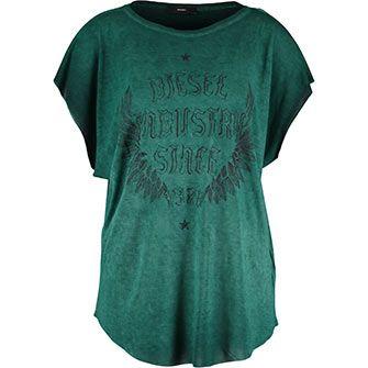 Emerald Green Batwing T-Shirt/Diesel