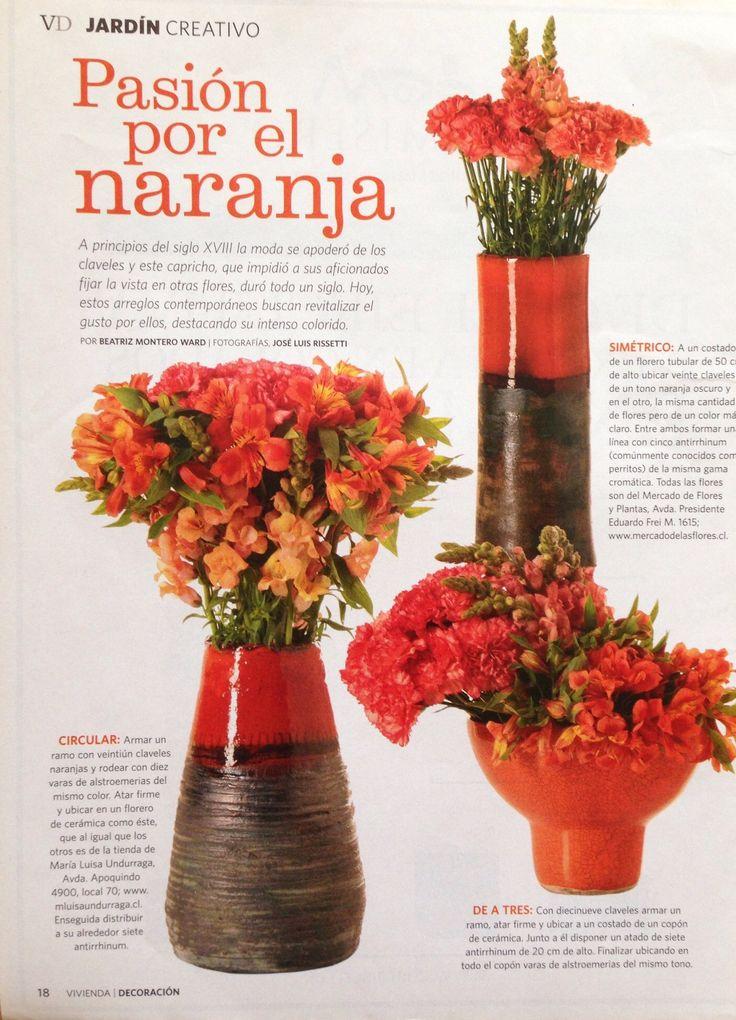 Flores en naranja