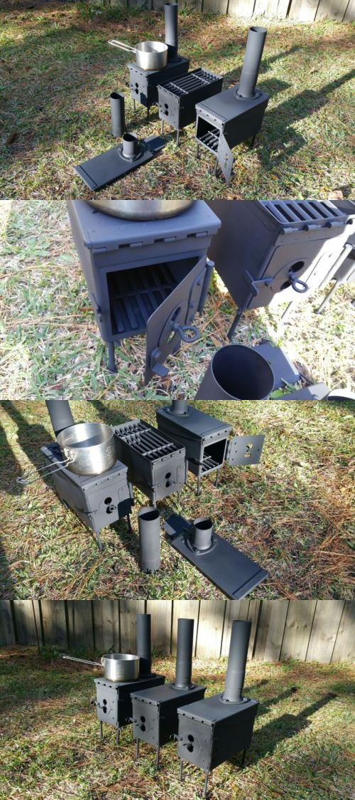 Camping Stoves 181386: Unique Ammo Can Hot Tent Wood Stove W Bbq Grill Emergency Heating Cooking Shtf -> BUY IT NOW ONLY: $149.95 on eBay!