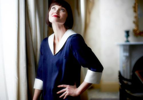 feminine blue blouse