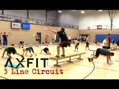 3 Line Circuit Workout - Group Training Ideas - YouTube