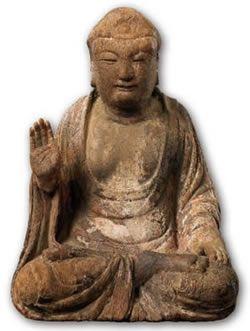 中台山博物館館藏木造佛坐像 五代~宋(907-1279) 木上彩 H37.3×W25.7×D22.5 cm