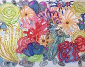 Sea coral archival print illustration watercolour painting