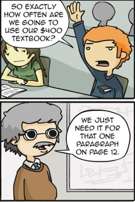 Sad, but this actually happened to me in college several times.