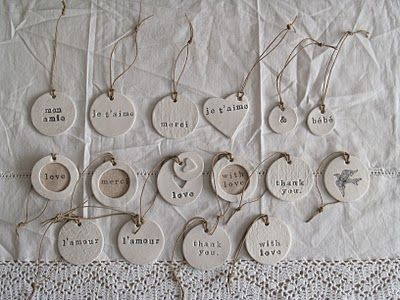 freckled laundry: Handmade Clay Tags & I'm Inspired
