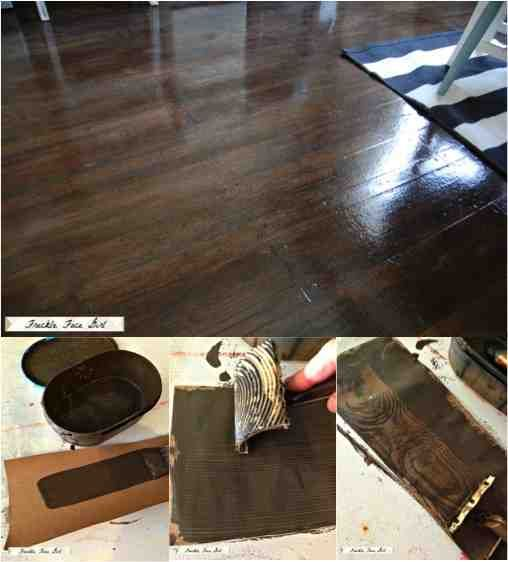 Brown Paper Faux Wood Floors For Less Than $90
