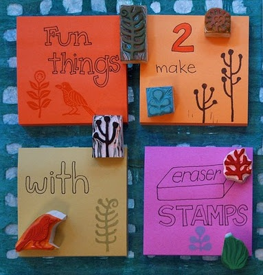 fun things to make with stampsHands Carvings Stamps, Art Blog, Hands Made, Stamps Carvings, Geninne Art, Erase Stamps, Era Stamps, Things To Do, Rubber Stamps