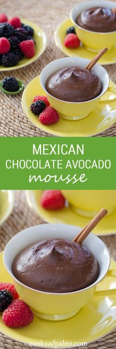 This Mexican chocolate avocado mousse is gluten-free, dairy-free and egg-free. ~ http://cookeatpaleo.com | @nutritionstripped