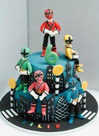 BakerByte #Power Rangers Cake