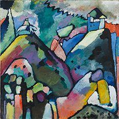 Wassily Kandinsky, Improvisation 9, 1910, Öl auf Leinwand, 110 x 110 cm, Staatsgalerie Stuttgart