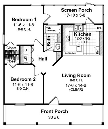 In Law Suite on 2 bedroom starter home plans