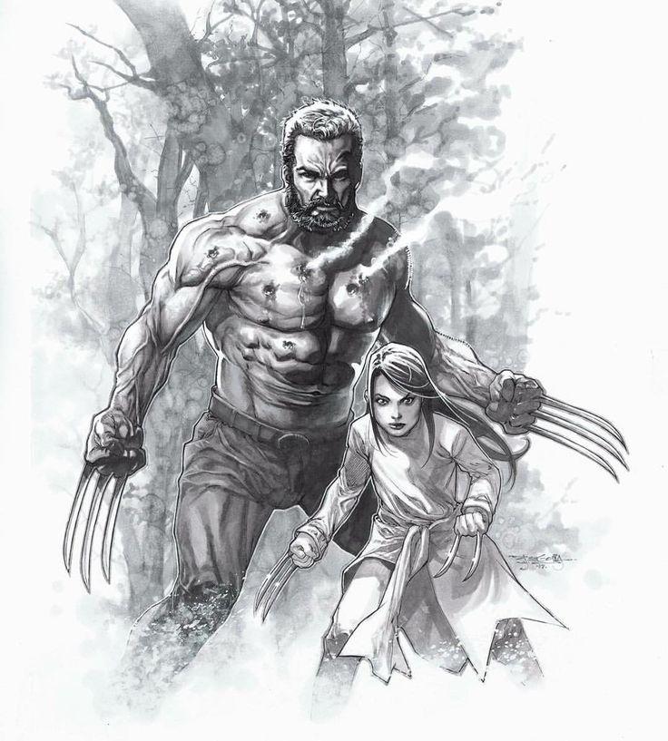 Art Of Comics And Manga: Logan And Laura Kinney By Stephen Segovia