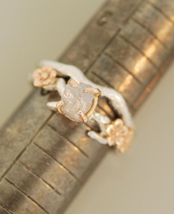 Cherry Blossom Branchtwig ringbranch by TeriLeeJewelry on Etsy