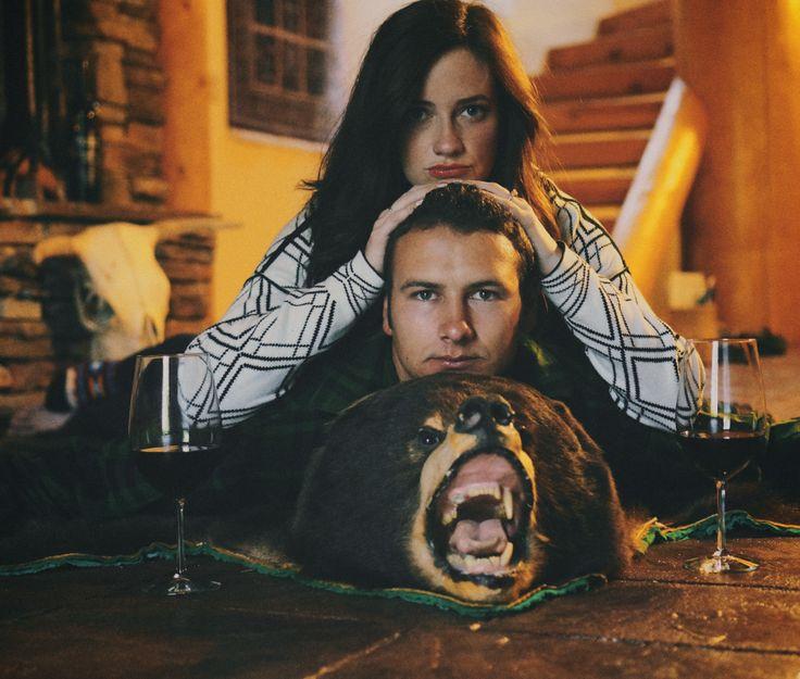 14 best bear skin rug images on Pinterest | Bear skin rug, Log ...