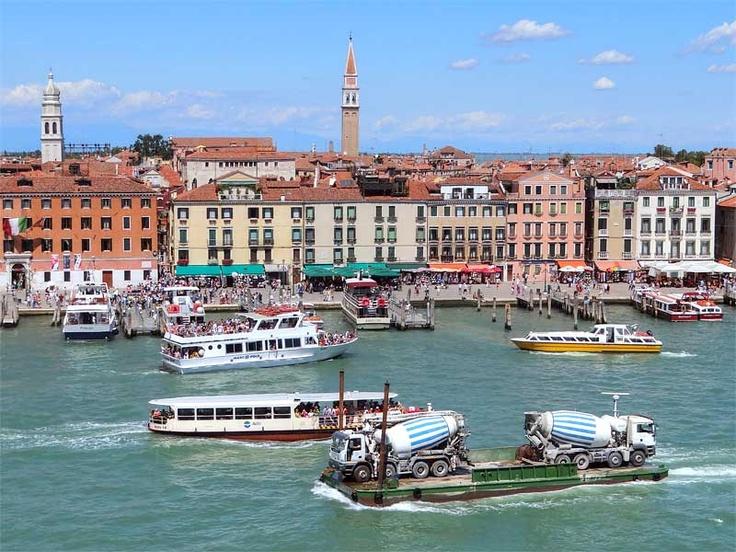 Height of the tourist season in Venice.
