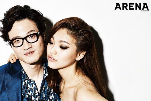 Jo Jung Chi gets friendly with another woman for 'Arena Homme Plus'