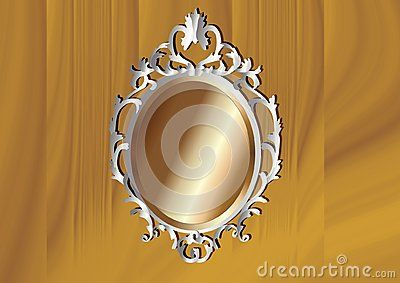 Silver and Bronze Baroque frame. Vector illustration.