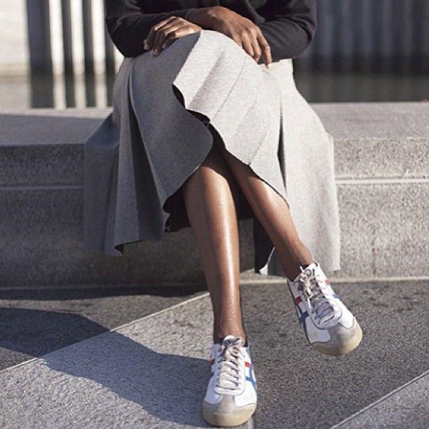 love @aesthetic_li s classic style #repost #ladylike #modern #Onitsuka #Tiger #Jwanderson #jacquesmus #followher #sneakerista #chicksinkicks #ohkny #sneakerstyle #sanfran #WEOHK