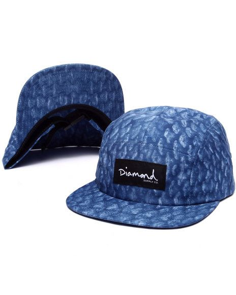 Diamond supply co fish scale camp 5 panel hat hats for Fishing snapback hats