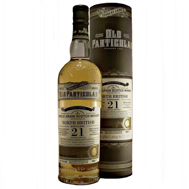 North British Old Particular 21 year old Single Grain Whisky available to buy online at specialist whisky shop whiskys.co.uk Stamford Bridge York