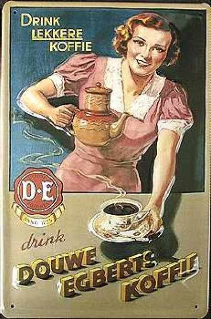 Douwe Egberts Coffee advertising #vintage