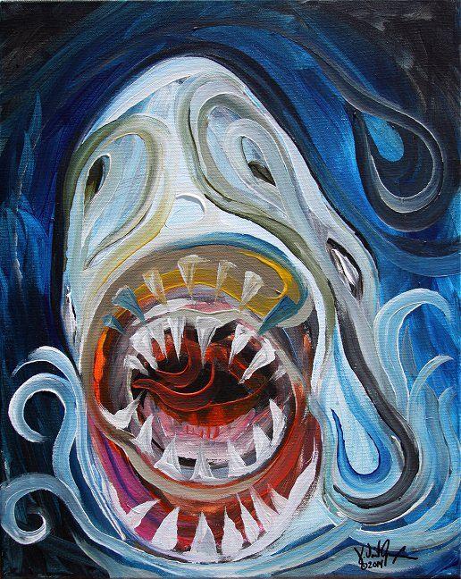 "NEW ""Rawrrr! Francis Bacon Shark"" (2014) Original on ..."
