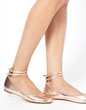 LENNOX Ballet Flats - rose gold