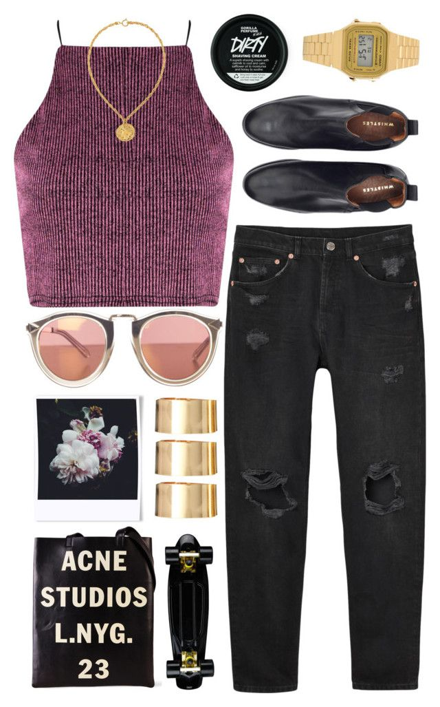 """""""Jersie"""" by sofie-way ❤ liked on Polyvore featuring Monki, Casio, Susan Caplan Vintage, Acne Studios, Polaroid and ASOS"""