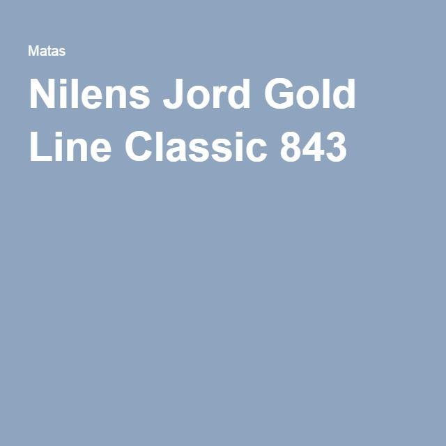 Nilens Jord Gold Line Classic 843