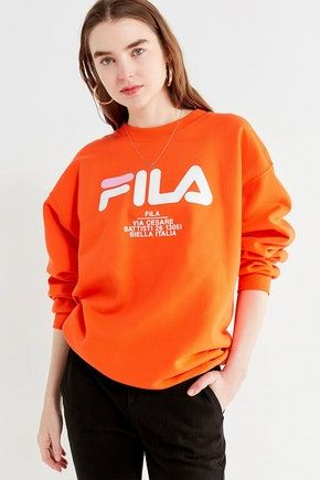 9ae90847f Make a Statement with This FILA x Urban Outfitters Logo Sweatshirt ...