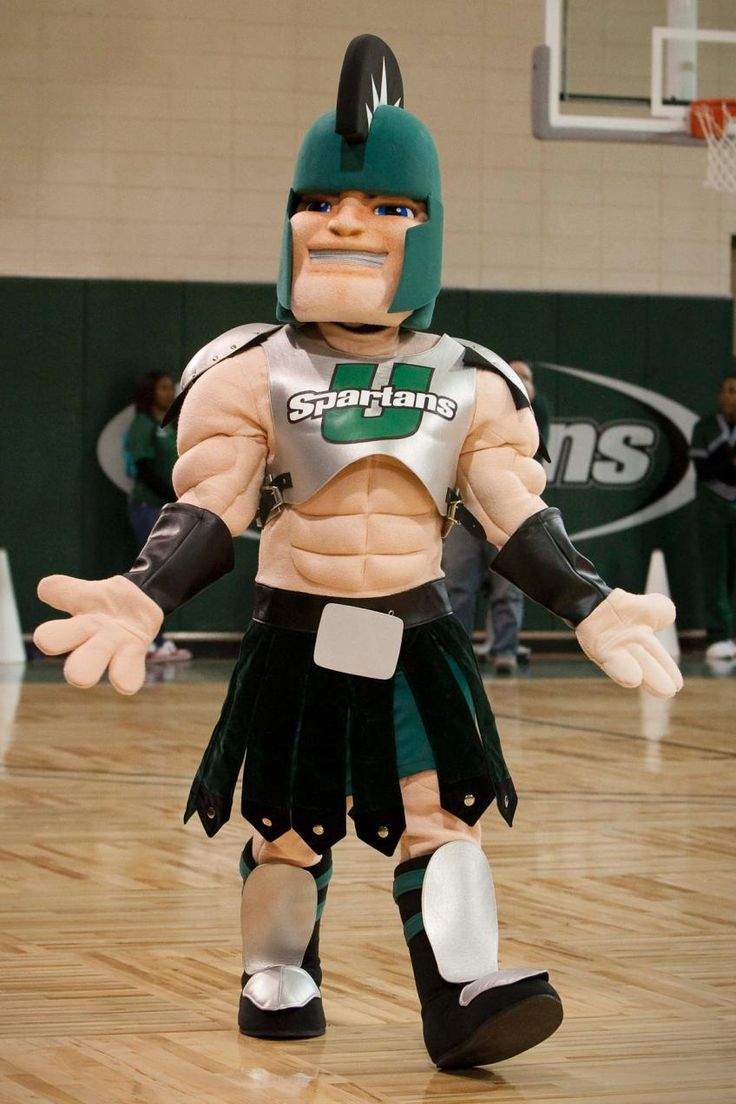 USC Upstate Spartans mascot, Sparty USC Upstate